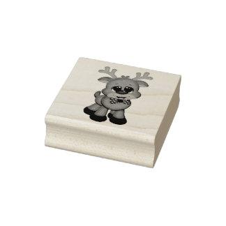 Timbres en bois d'art/bébé mignon Rudolph