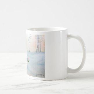 Time Travelling Effiloche de Café Mug Blanc