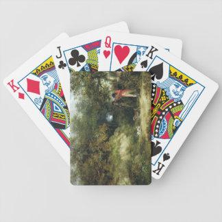 Tir de faisan (huile sur la toile) 3 jeux de cartes