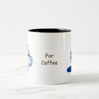 Tiré par la main une tasse de tasse de café