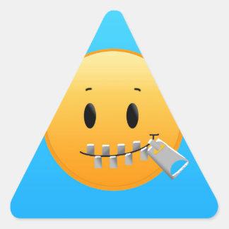 Tirette Emoji Sticker Triangulaire