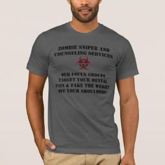 Tireur isolé de zombi et consultation du T-shirt