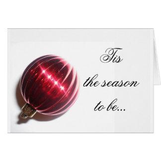 Tis la carte de saison