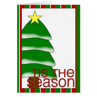 tis la carte de vacances de saison