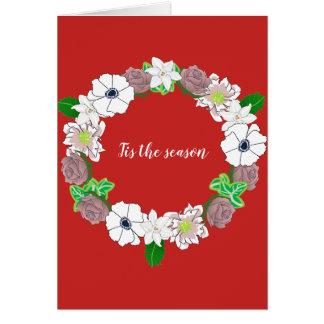 Tis la saison. Carte de Noël comportant une