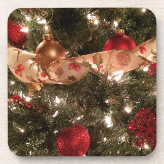 Tis la saison - dessous de verre d'arbre de Noël Sous-bock
