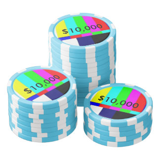 Tisonnier de la vieille école TV jouant les puces Jetons De Poker