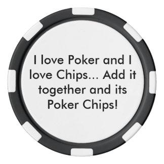 Tisonnier et jeton de poker de puces (noir) rouleau de jetons de poker