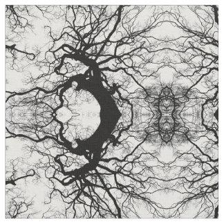 tissu abstrait noir et blanc