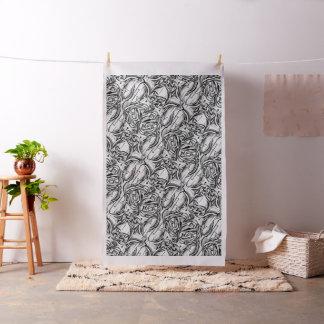 Tissu abstrait noir et blanc de peinture