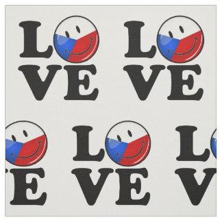 Tissu Amour de drapeau de sourire de République Tchèque