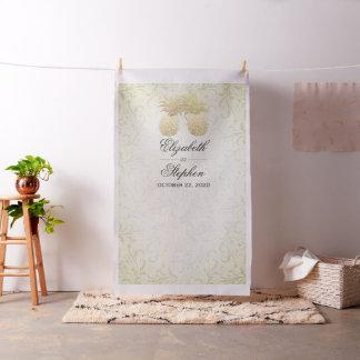 Tissu Ananas moderne d'or de contexte de cabine de photo