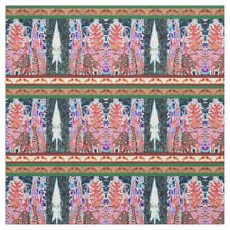 Tissu Arbres de cardinal et de Noël de Noel