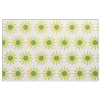 Tissu Assez le jaune fleurit le motif de marguerites