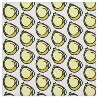 Tissu Bagout différent de nuances de jaunes doux noirs