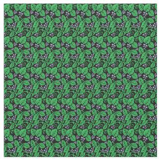 Tissu Baies dans bleu, vert et noir