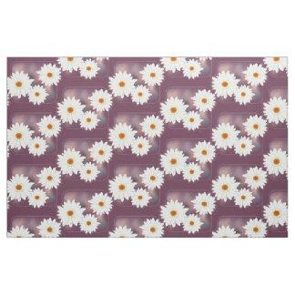 Tissu Blanc de Gerbera