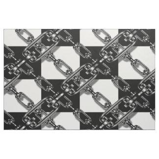 Tissu blanc noir à la mode de guingan de maillon