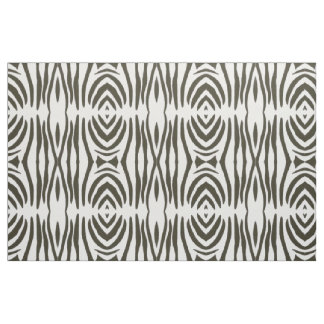 Tissu blanc noir abstrait d'impression de rayures