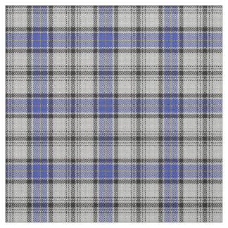 Tissu bleu blanc de tartan de Hannay de clan