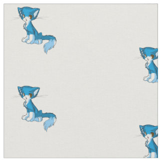 Tissu bleu de chaton