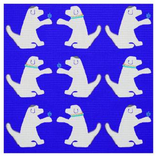 Tissu bleu et blanc de Hanoukka de chien