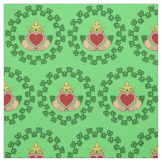 Tissu Claddagh et Knotwork vert
