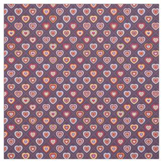 Tissu Coeurs multicolores