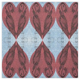 Tissu Coeurs reflétés de macareux