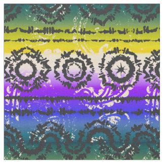 Tissu coloré de conception de batik de colorant de