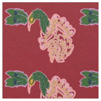 Tissu Conception de paon
