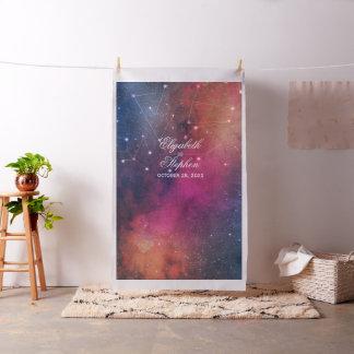 Tissu Constellations de galaxie de contexte de cabine de