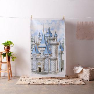 Tissu Contexte de cabine de photo de château d'or de