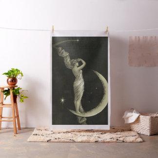 Tissu dame sur la lune