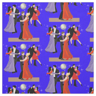 Tissu Danseurs de salle de bal sous la boule de disco