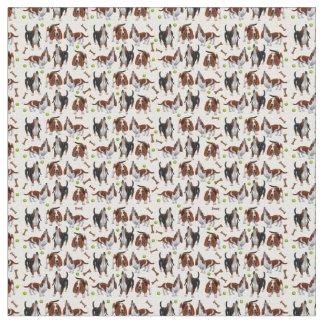 Tissu de chiens d'hurlement Basset Hound