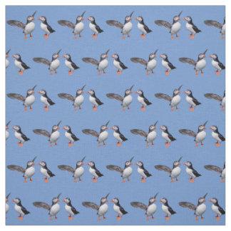 Tissu de copains de macareux (bleu-clair)