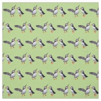 Tissu de copains de macareux (vert clair)