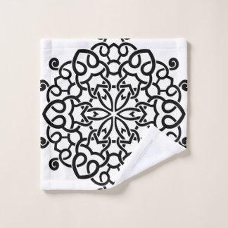 Tissu de lavage avec le noir de mandala