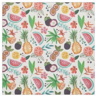 Tissu de l'été   de fruit tropical