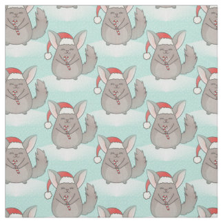 tissu de Noël de chinchillas de Noël