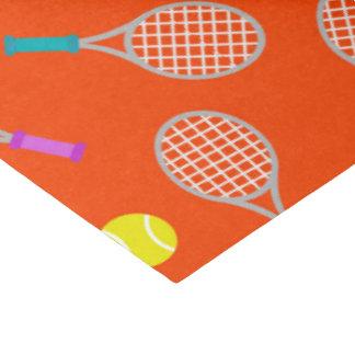 Tissu de partie de motif de boule de raquette de papier mousseline