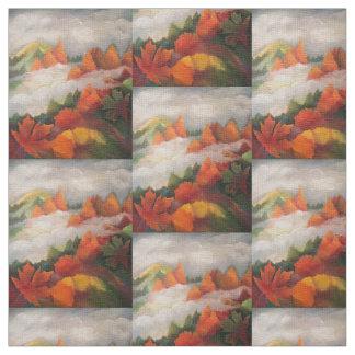 Tissu de paysage d'automne