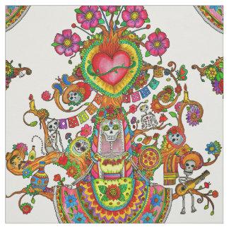 Tissu de style de tatouage avec l'arbre des morts