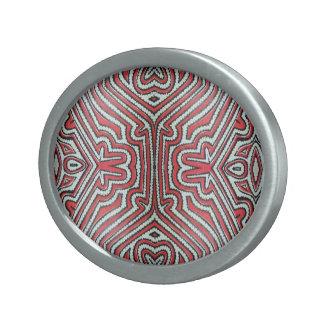 Tissu de Tapa inspiré Boucle De Ceinture Ovale