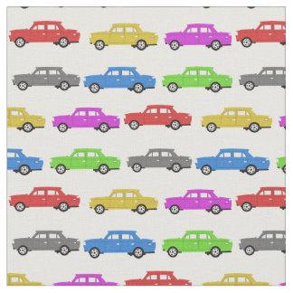 Tissu de voitures de jouet