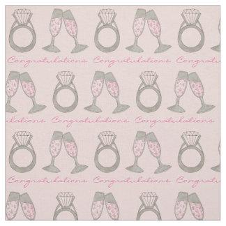 Tissu Diamant rose de mariage de Champagne de