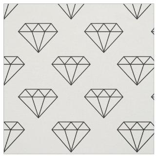 Tissu Diamants noirs et blancs