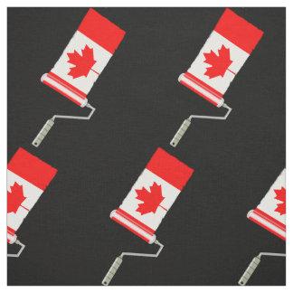 Tissu Drapeau de rouleau de peinture du Canada