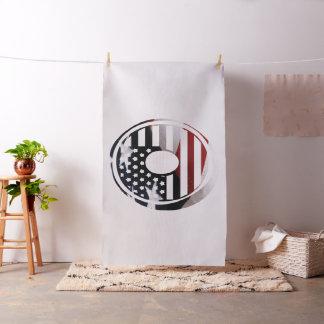 Tissu Drapeau patriotique des Etats-Unis d'initiale de